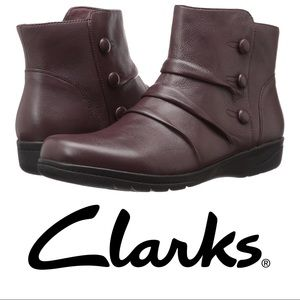 Clarks Cheyn Anne Brown Ankle Boots Size 7.5
